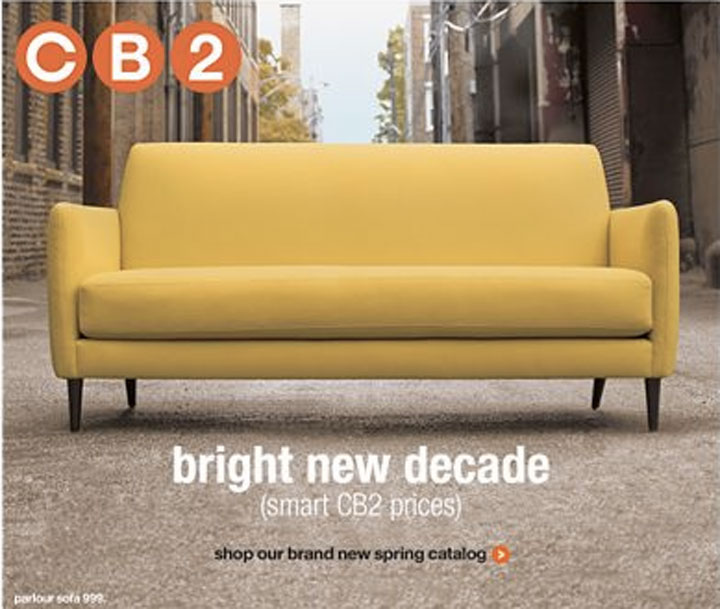 Ever Since I Got The New CB2 Catalog, Iu0027ve Been Obsessed With This Yellow  Sofa. Completely Impractical, But Something So Happy Would Make Me Smile  Every ...